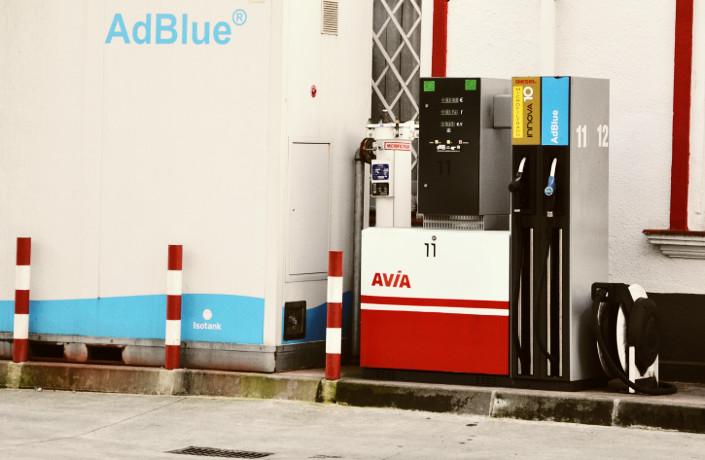 Surtidor adBlue gasolinera acitain avia
