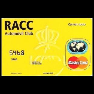 Tarjeta RACC gasolinera Acitain