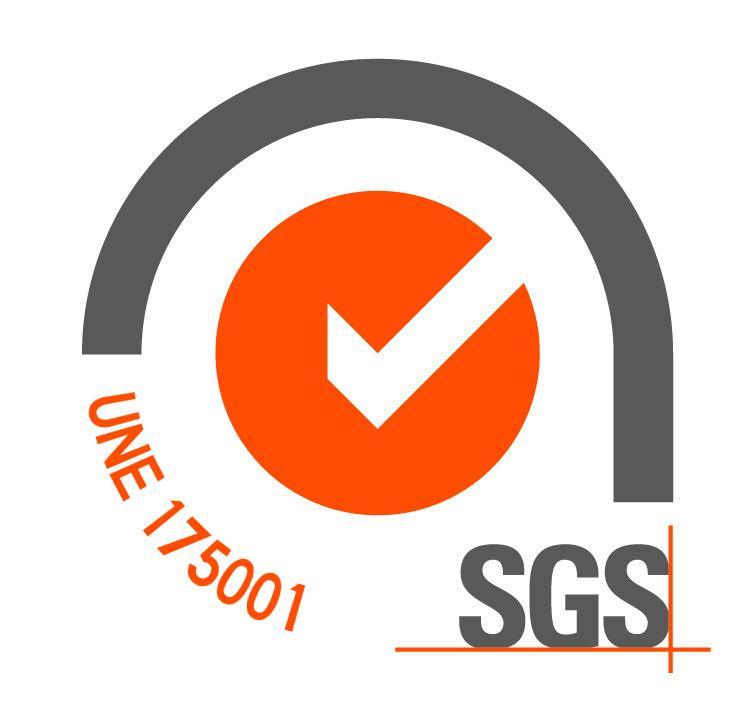 Logo certificado UNE 175001-6 Gasolinera Acitain EIBAR
