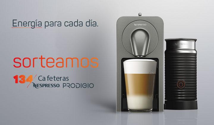 Promocion sorteo 134 cafeteras NESPRESSO PRODIGIO club avia, Gasolinera - Acitain