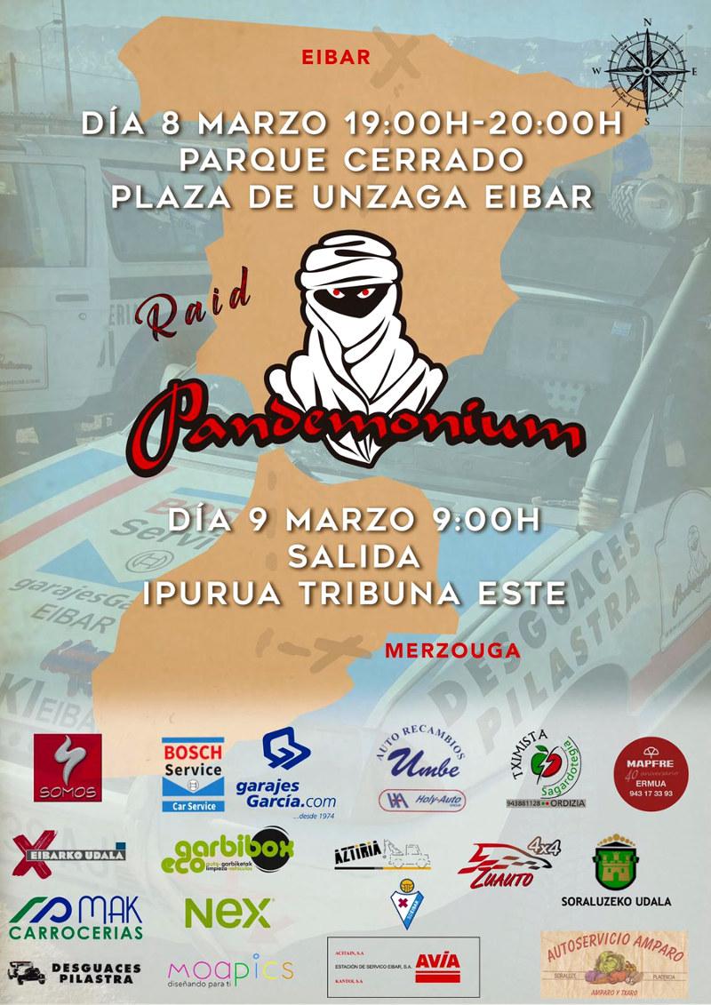 Cartel salida Pandemonium Eibar 2018, Avia