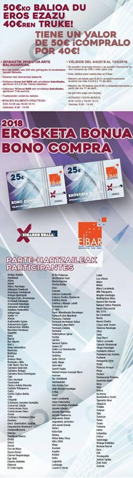 Promoción Asociacion Comerciantes Eibar, abril 2018