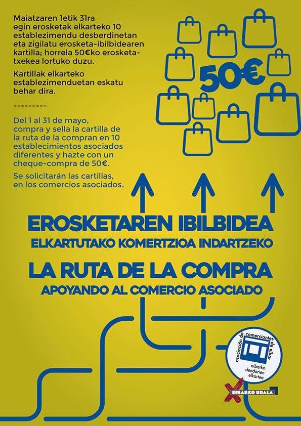 Promo mayo 2018, la ruta de la compra, asociacion comerciantes de eibar, es acitain