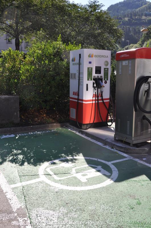 Punto recarga rápida para vehículos eléctricos - Estación de servicio ACITAIN en Eibar