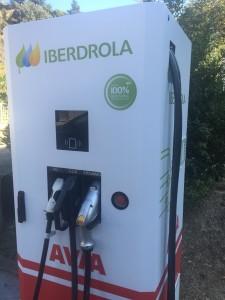 Punto recarga rápida para coche eléctrico, Estación Servicio Acitain AVIA