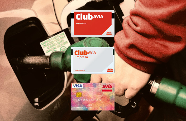 visa avia, club avia en gasolinera Acitain