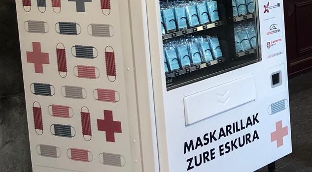 Máquina vending mascarillas - ES Acitain, Eibar